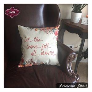 Other - Leaves Fall linen blend pillowcase pillow cover
